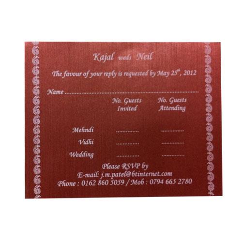 Shreedhar Cards >> RSVP Cards - SD9003